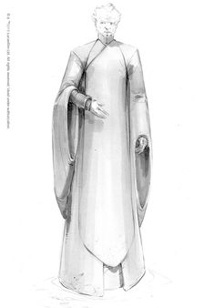"""Concept art of Chancellor Palpatine from """"Star Wars Episode III: Revenge of the Sith"""" (2005)."""