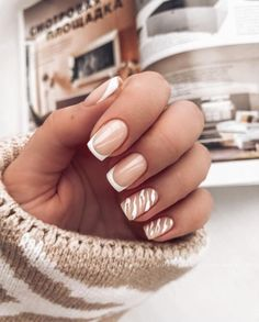 French Manicure Acrylic Nails, Simple Acrylic Nails, French Nails, Nail Manicure, Simple Nails, Pedicure, Cute Gel Nails, Pretty Nails, Taupe Nails
