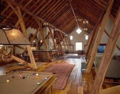 Man Cave Attic : Attic man cave shed contemporary with tool organization backless