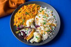 Dahl indien, légumes rôtis, fromage blanc aux herbes #foodcheri
