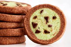 Mint Chocolate Chip Icebox Cookies