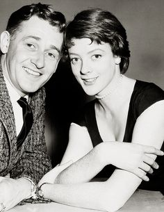 """""""Alan Young and Maggie Smith - Boy Meets Girl """" Hollywood Actresses, Actors & Actresses, Alan Young, David Niven, Maggie Smith, Boy Meets Girl, British Actors, Emma Watson, Vintage Photographs"""