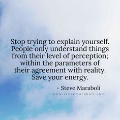 Save your energy...