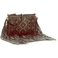 Amazing Faux Leather Studded Fringe Crossbody This bag is the perfect cold weather statement piece! Sold out in stores and online. New with tag. Crown Vintage Bags Crossbody Bags