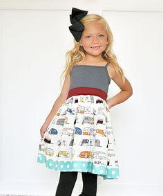 Loving this Gray Travel Trailer Tank Dress - Infant, Toddler & Girls on #zulily! #zulilyfinds