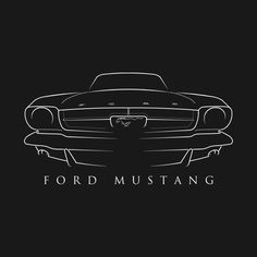 Shop 1965 Ford Mustang - front stencil, white antique car t-shirts designed by mal_photography as well as other antique car merchandise at TeePublic. 1965 Mustang, Mustang Fastback, Mustang Cars, Ford Mustang Gt, Ford Gt, Matte Black Mustang, Cadillac, Cool Car Drawings, Cj Jeep
