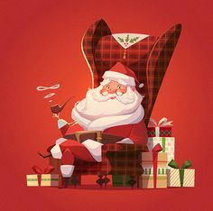 christmas illustration Showcase and discover creative work on the worlds leading online platform for creative industries. Merry Christmas, Christmas Images, Christmas Greeting Cards, Christmas Greetings, All Things Christmas, Vintage Christmas, Christmas Time, Xmas, Illustration Noel