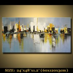 abstract painting landscape scenic painting original by mctopart, $299.00