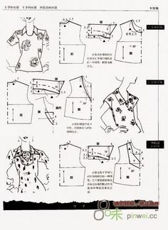 Archivo de álbumes Barbie Patterns, Easy Sewing Patterns, Coat Patterns, Clothing Patterns, Collar Pattern, Top Pattern, Sewing Lessons, Sewing Hacks, Sewing Blouses