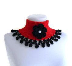 knit collar knitted neck warmer winter от likeknitting на Etsy