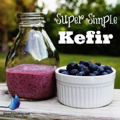 "♥3 Steps to Making Home-Made Kefir♥ ""Who knew it was so simple to create a fermented, probiotic-filled drink?  I love the fresh, tart taste and smooth, creamy texture.  I really wish I would have done it sooner!"""