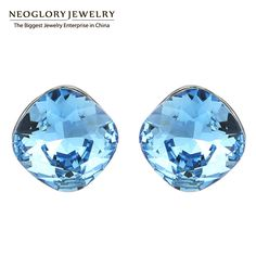 Neoglory  Austrian Crystal Cute Stud Earrings for Women famous brand Jewelry Birthday Gift  2017 New Lady Love B1