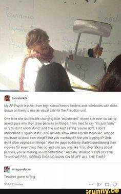 tumblr, tumblrpost, psychology, dick, highschool