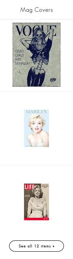 """""""Mag Covers"""" by dinyill-wallace ❤ liked on Polyvore featuring home, home decor, marilyn monroe home decor, wall art, photo wall art, map poster, map wall art, marilyn monroe posters, marilyn monroe wall art and beauty products"""