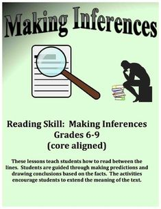 Inferencing – Making Inferences – Reading Between the Lines School Resources, Learning Resources, Teacher Resources, Teaching Ideas, Middle School Reading, Middle School Teachers, High School, Reading Workshop, Reading Skills