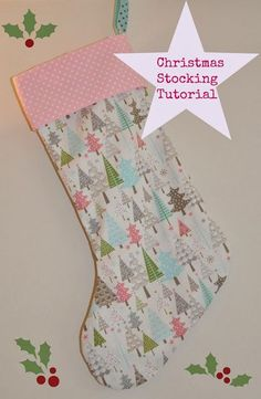 Christmas DIY : Sew Scrumptious: Christmas Stocking Tutorial and Pattern. The pattern was pretty narrow. I would widen it before cutting out fabric. Christmas Sewing Projects, Easy Sewing Projects, Sewing Projects For Beginners, Sewing Hacks, Sewing Tutorials, Sewing Crafts, Christmas Crafts, Sewing Tips, Sewing Ideas