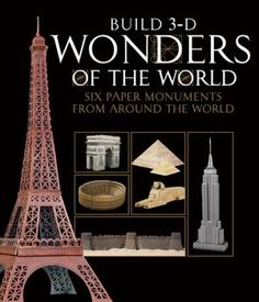 "Build 3-D Wonders of the World    Throughout history, many famous landmarks have been deemed ""Wonders of the World,"" from ancient sites to modern-day feats of architecture. Inside this kit you'll find ready-to-fold templates to create 6 stunning, highly detailed, 3-D paper models of some of the most famous structures of anciet and modern times.    Arc de Triomphe  Colosseum  Eiffel Tower  Empire State Building  Pyramids of Giza with Sphinx  Great Wall of China"