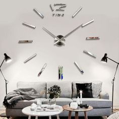 Hodiny na zeď zrcadlové 1 m - dekorace do bytu - SLEVA 50% A DOPRAVA ZDARMAPošta Zdarma