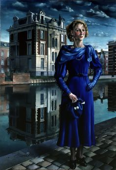 Carel Willink (Dutch, Wilma, 1932 Oil on canvas Magic Realism, Dutch Painters, Dutch Artists, Art For Art Sake, Expo, Blue Art, Album, Traditional Art, Painting & Drawing