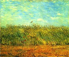 Wheat Field with a Lark - Vincent van Gogh