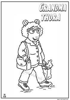 Arthur coloring pages | Dibujos - Arthur | Dibujos, Nios ...