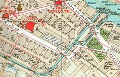 Stadtplan 1902:Das Gebiet rund um die Lohmuehleninsel.Der Goerlitzer Bahnhof lag nordwestlich der Insel