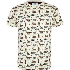 Stone Bellfield wildlife print t-shirt #riverisland #rimenswear