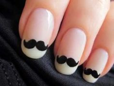 cutepolish mustache nail designs on youtube :)