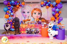 Elsa Birthday Party, Frozen Themed Birthday Party, Disney Frozen Birthday, 2nd Birthday Party Themes, Frozen Party Decorations, Birthday Party Decorations, Frozen 2, Anna, Ideas