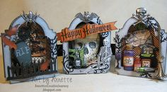 Annette's Creative Journey using Tim Holtz Vintage Cabinet Card and mini cabinet and on the fence dies,Idea-ology fragments, muse token and Graphic 45 Happy Hauntings papers and other Sizzix alterations dies, Stampers Anonymous stamps.  Love this design!