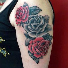 Rose Tattoo Jona Tattoo art Email; jonatattoo@email.it Fb;jona Tattoo art Instagram;@jonatattoo