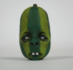 Anthropomorphic Halloween Vegetable guy OOAK Sculpted by primdolly, $65.00