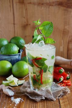 This mojito makes minty cocktails relevant year-round with coconut, chili, and a heavy dose of citrus. Get the recipe from Françoise La Prune. Summertime Drinks, Summer Drinks, Soda Stream Recipes, Prune Recipes, Cheers, Chile, Coconut Mojito, Spicy Drinks, Sparkling Drinks