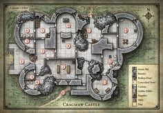 D&D Cragmaw Castle Map
