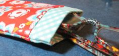.Quiltscapes.: Snippets ~ A Snappy Case. Glasses case to sew with metal tape measure closure.