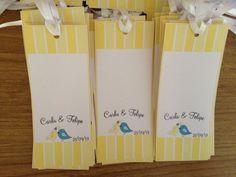 TAG para Árvore de Desejos (Wish Tree)  Peça para os seus convidados deixarem uma mensagem carinhosa pra você.   Esses tags podem ser pendurados numa árvore de galhos secos, varal, mural ou onde você imaginar.  TAG de 6 cm x 15 cm, feito em papel couché Brilho 180 gr + fita de cetim = R$0,70.  Faço qualquer tema R$ 0,70