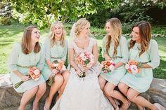 Tiffany blau Brautjungfer Kleid Mint von SandyWatersStore auf Etsy