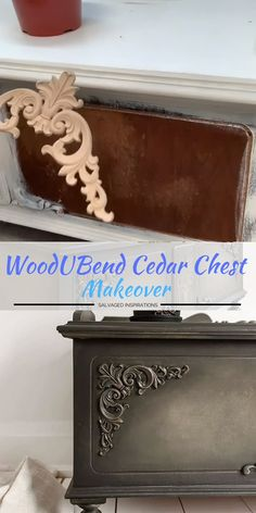 Feb 2020 - Here's an EASY way to fancy up your boring furniture. This product is a game-changer, my friends! Bendable appliques and furniture molds by WoodUBend! Diy Furniture Videos, Diy Furniture Table, Furniture Painting Techniques, Refurbished Furniture, Paint Furniture, Repurposed Furniture, Furniture Projects, Furniture Makeover, Diy Furniture Repurpose