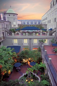 The courtyard at the Royal Sonesta Hotel in New Orleans