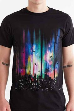 Design By Humans Feel Without Gravity Tee - Urban Outfitters