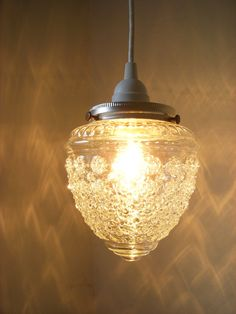 Raspberry Shaped Textured Hanging Pendant Lighting by BootsNGus, $42.00