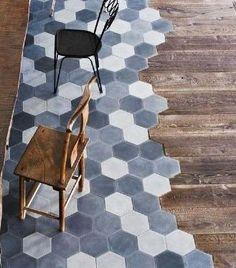 Hexagon Tiles//Hardwood Floor