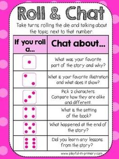 FREEBIE! ROLL AND CHAT: READING COMPREHENSION DICE GAME - TeachersPayTeache...