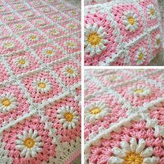 ふっくらデイジーのグラニースクエアの編み方   Crochet and Me