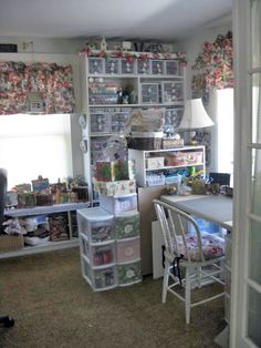 lori's shabby chic craft room / scrap room - so organized