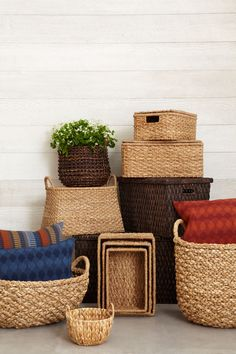 Need to corral some clutter? These intricate baskets grace everyday function with their natural beauty.
