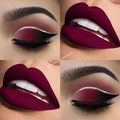 #burgundy #favecolor #makeupwingonfleek