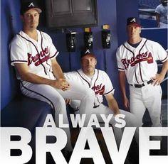 Three of the best pitchers in Braves history Baseball Photos, Baseball Stuff, Baseball Tees, Softball, Baseball Cards, Tom Glavine, Atlanta Travel, Greg Maddux, Sports Advertising