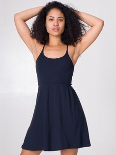 American Apparel - Baby Rib Cross-Back Summer Dress