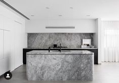 Super White kitchen magnificence designed by and featured recently in . Build by Topaz Group. Super White Granite, Super White Quartzite, Modern Kitchen Cabinets, Kitchen Cabinet Design, Kitchen Interior, Kitchen Ideas, Kitchen Decor, Stone Kitchen Island, White Kitchen Island